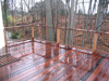 New ipe deck overlooking ravine