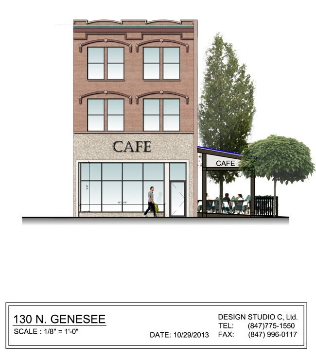 Café front elevation