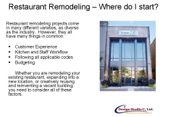 Restaurant Remodeling - Where Do I Start?